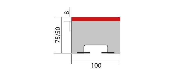 Zeichnung Ersatzteil eines Pralltisch