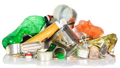 Recyclingtechnik Förderband Fördergut Abfall