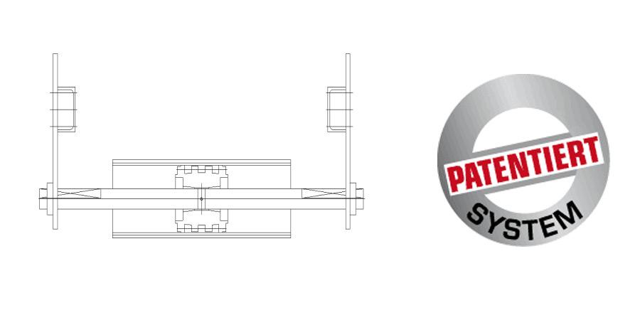 Korrekturrolle für Förderbänder das patentierte System